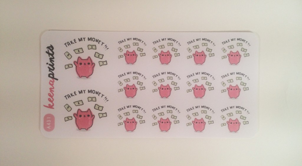 Take My Money Sticker | The Rebel Planner