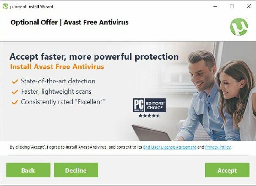uTorrent İsteğe Bağlı Teklif - Avast Free Antivirus