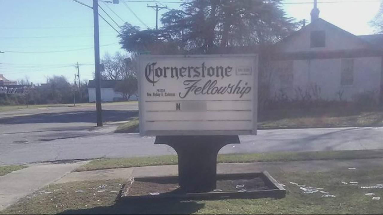 Racial Slur on Church Sign_225792
