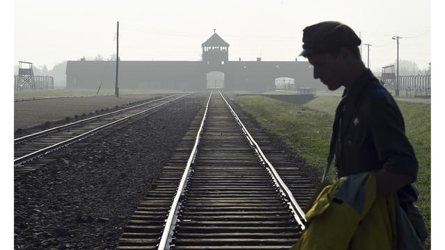 Poland Auschwitz Vandalism_1554069030397