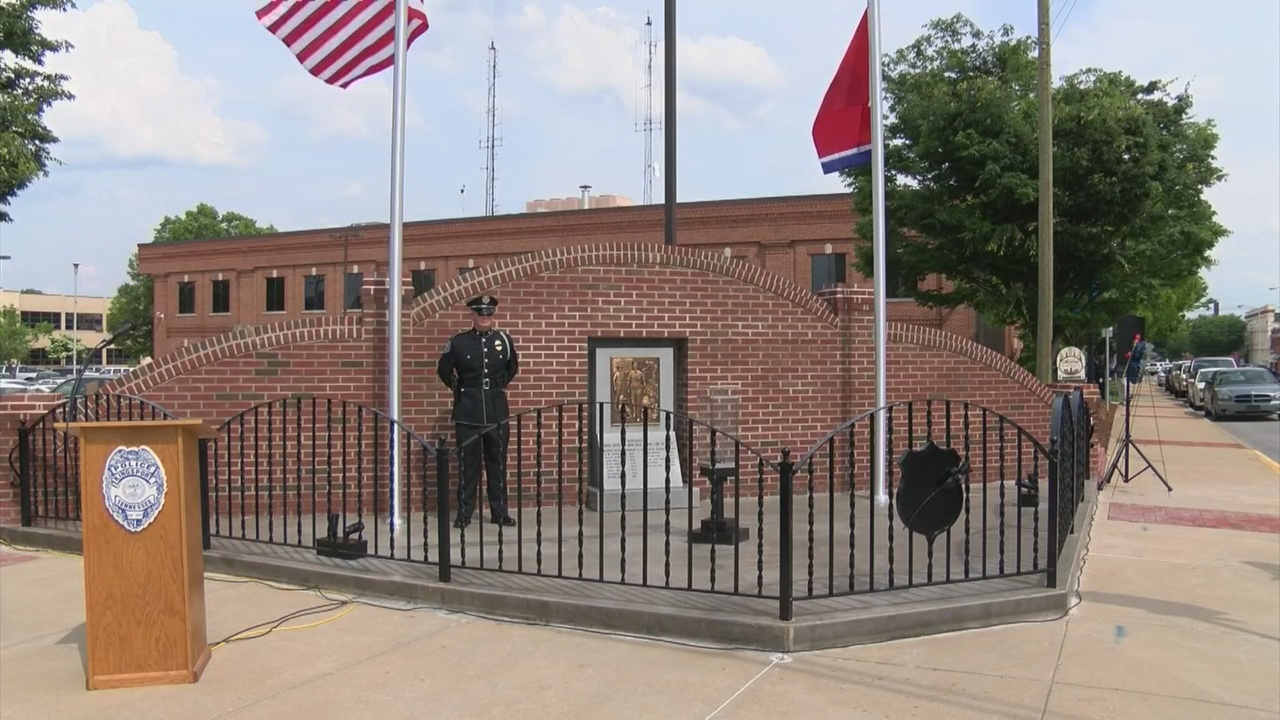 Kingsport Law enforcement memorial and eternal flame_151132