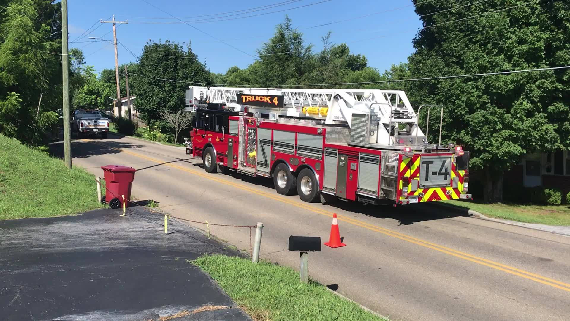 Firefighters respond to gas leak reported on Antioch Road in Johnson City