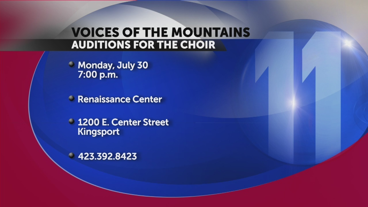 Voices of the Mountains to hold auditions