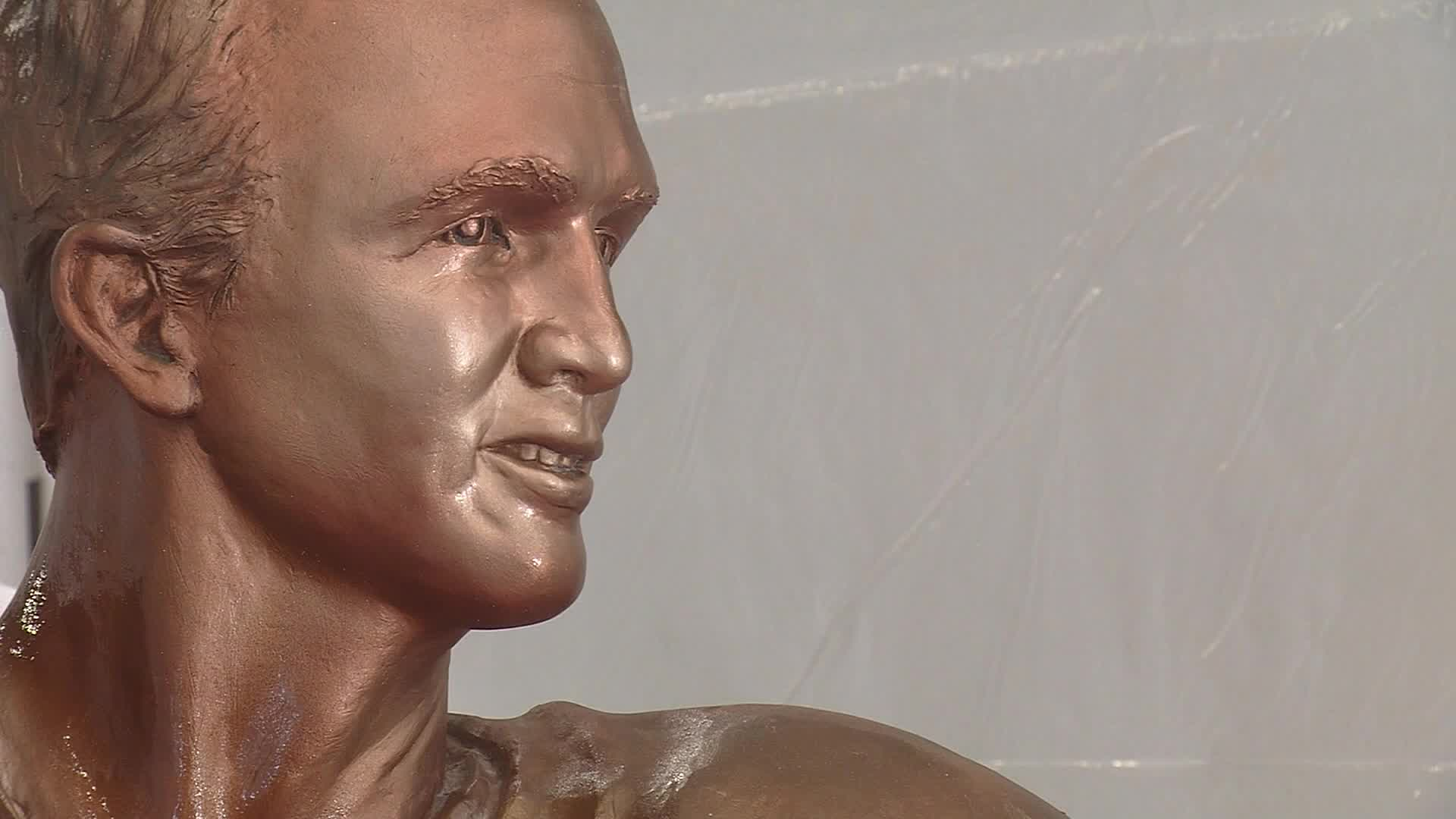 Chocolate Peyton Manning sculpture for sale for $6,000