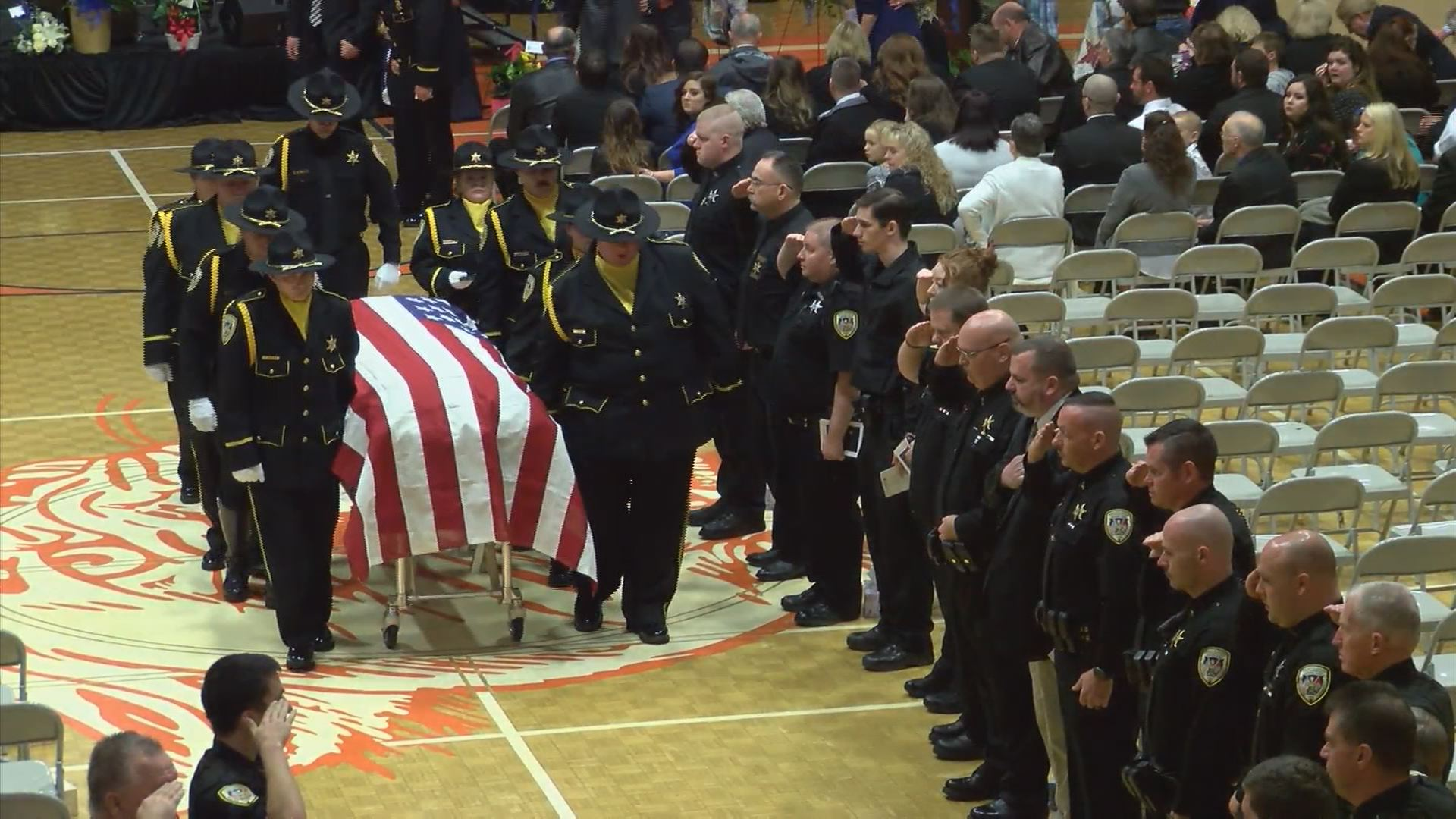 Sgt. Hinkle arrival to today's celebration of life.