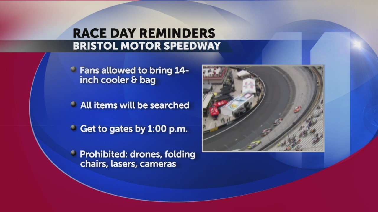 Food City 500 reminders