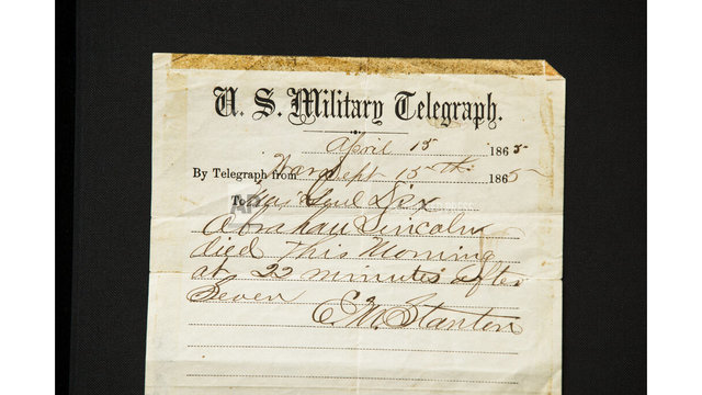 Lincoln Is Dead Telegram_1555029948934