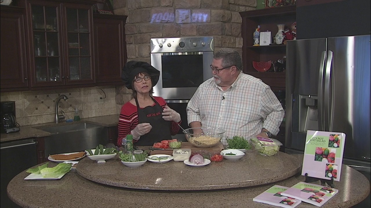 Sprouted Chickpea Salad with Raw Chef Jane