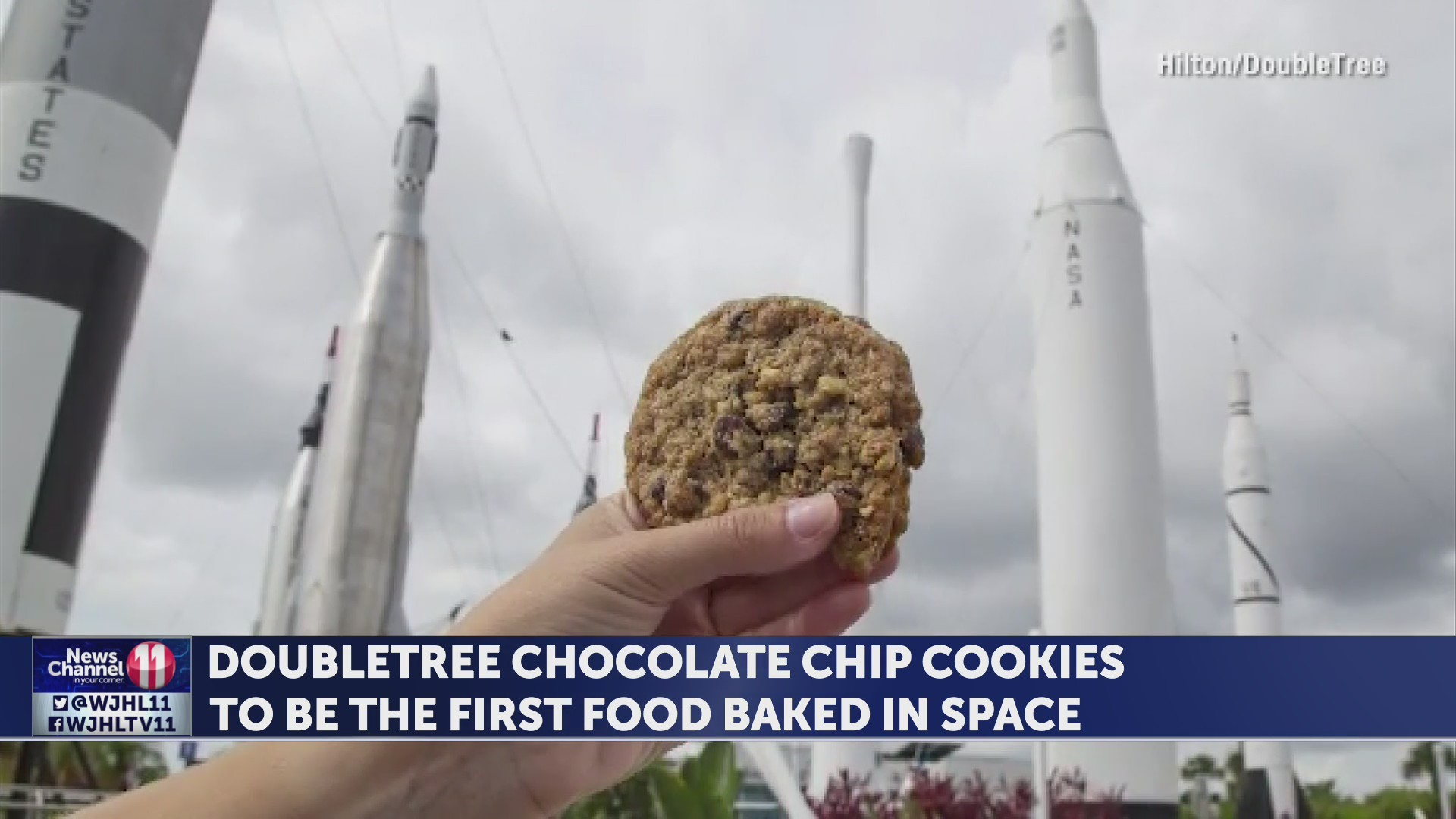 DoubleTree chocolate chip cookies to be the first food baked in space