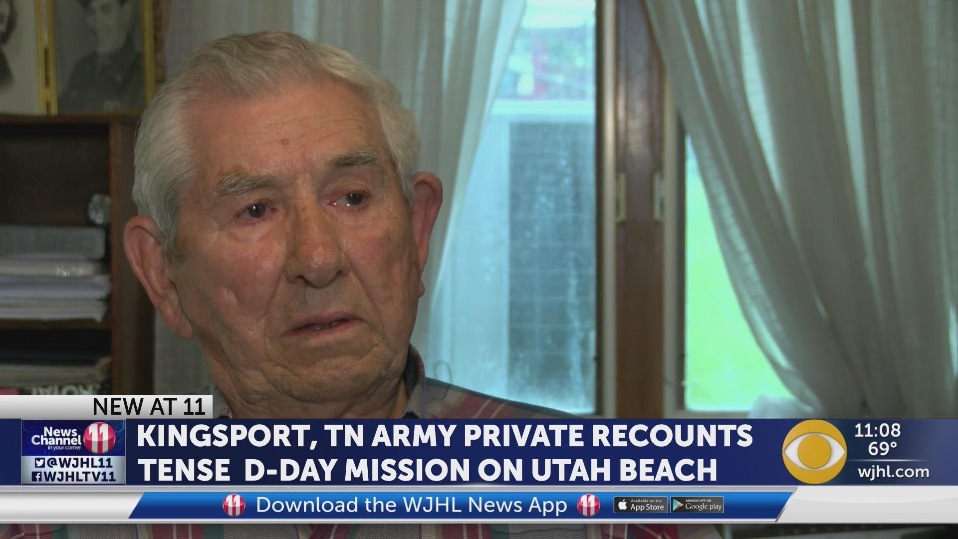 Kingsport, TN Army veteran recounts tense D-Day mission on Utah Beach