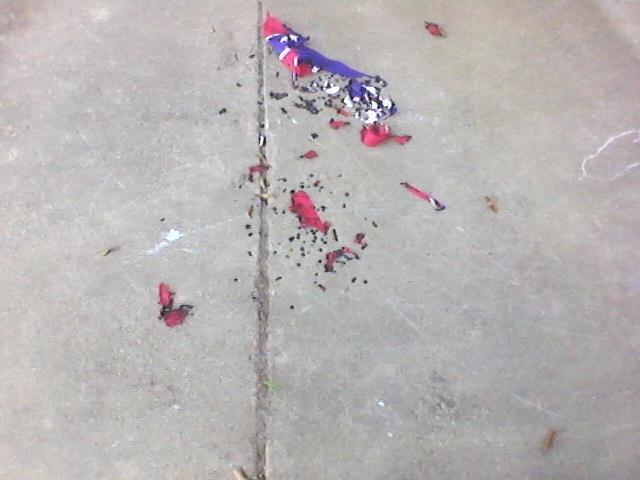 Mississippi Flag Found Burned_33644