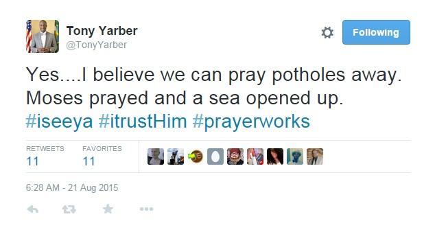 yarber tweet about potholes_48991