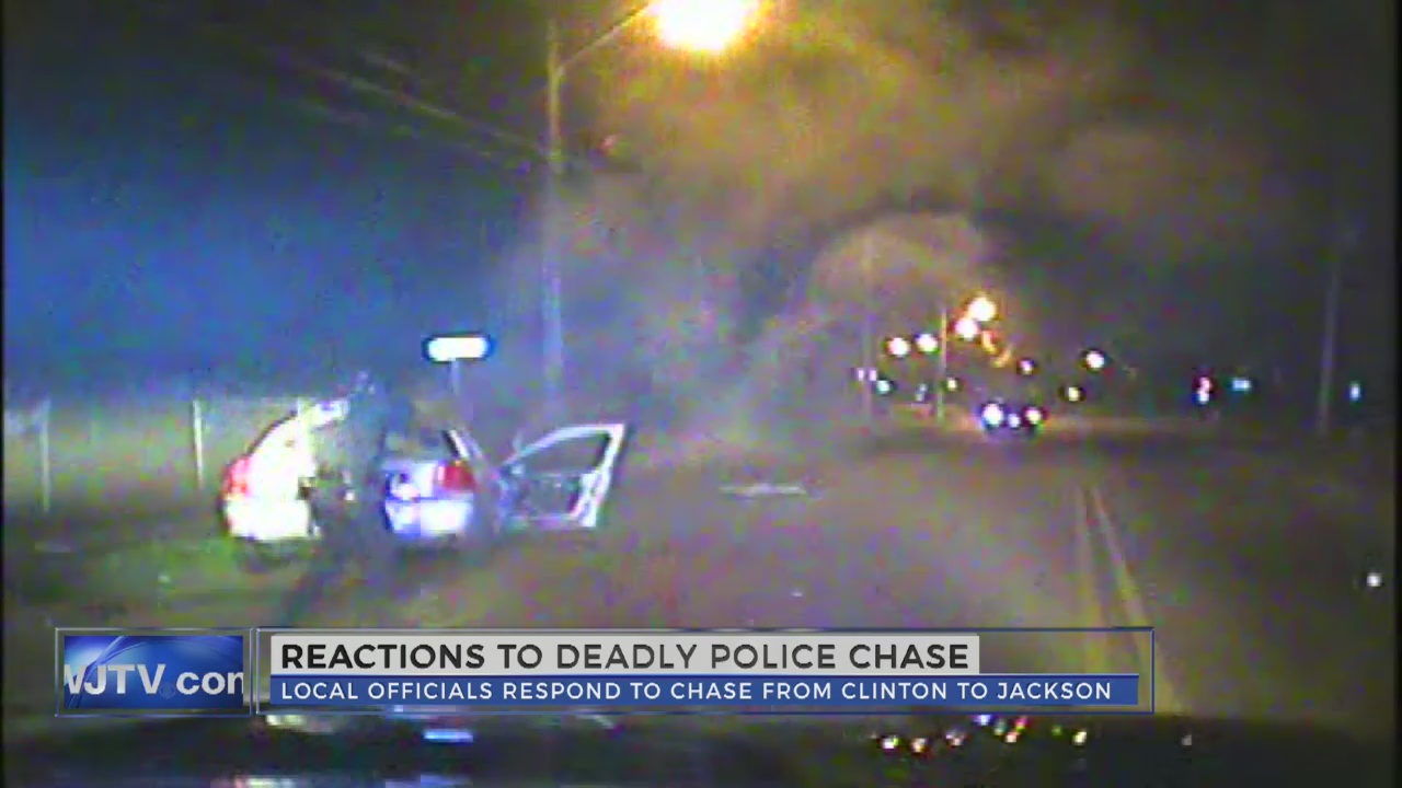 Reaction to deadly police chase into Jackson_152424