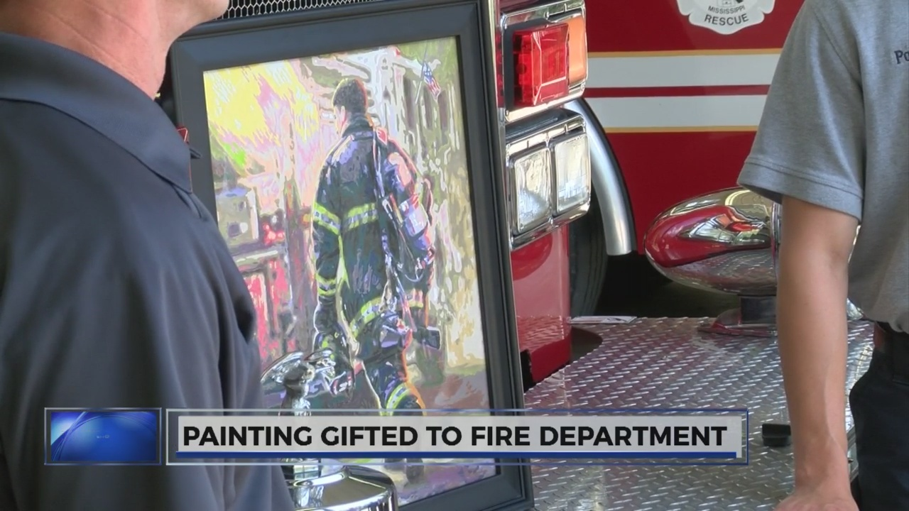 Clinton woman tells firefighters 'thank you' with painting