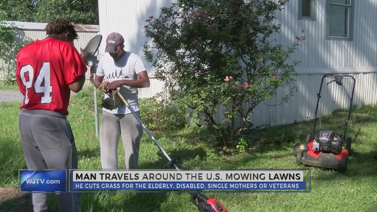 Man mows lawns for a cause