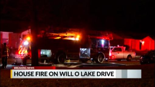 House fire Will O Lake