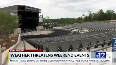 Weekend events have contingency plans in case of severe weather