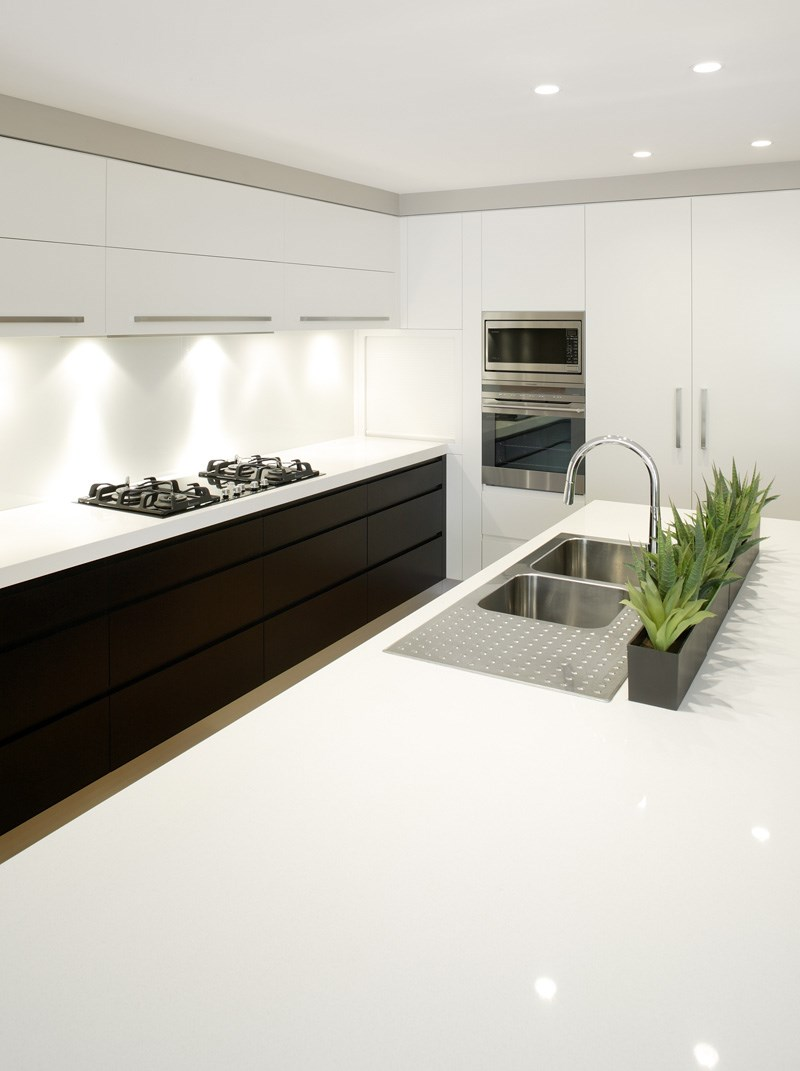 All White Kitchen Island