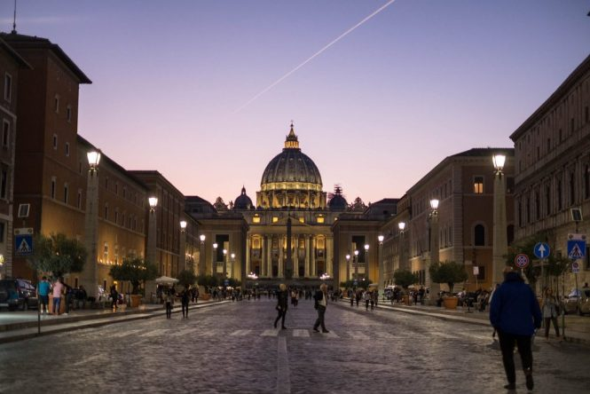 vatican photo sunset italy