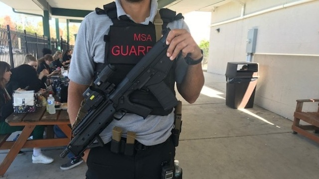Manatee School in Florida armed guard