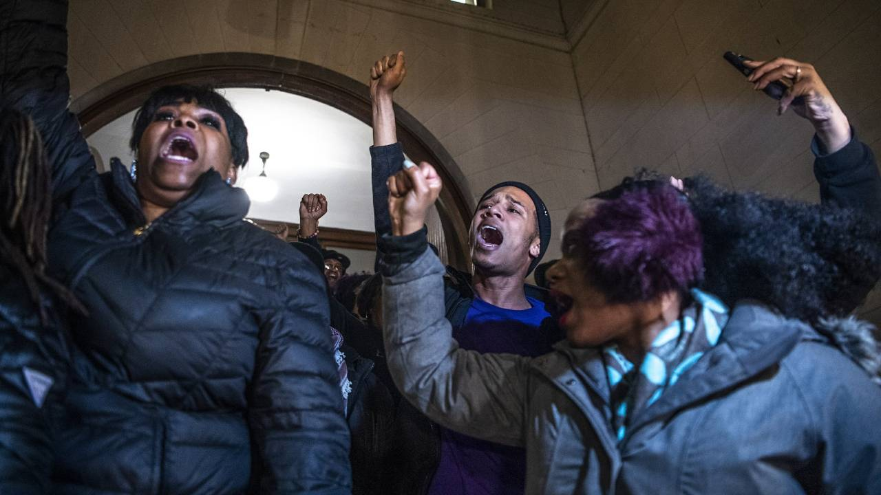 Protests after Michael Rosfeld found not guilty