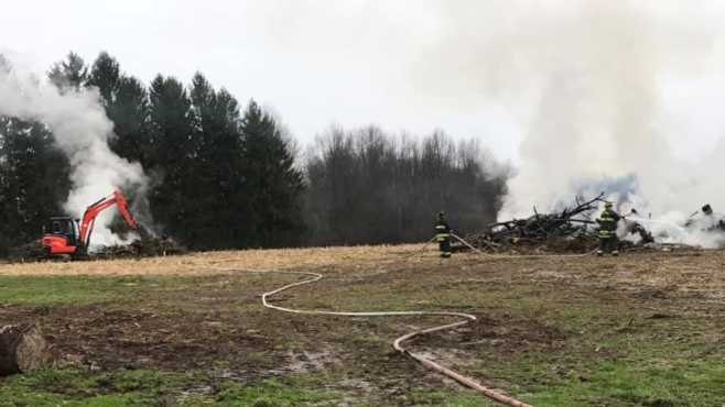 Brookfield brush fire
