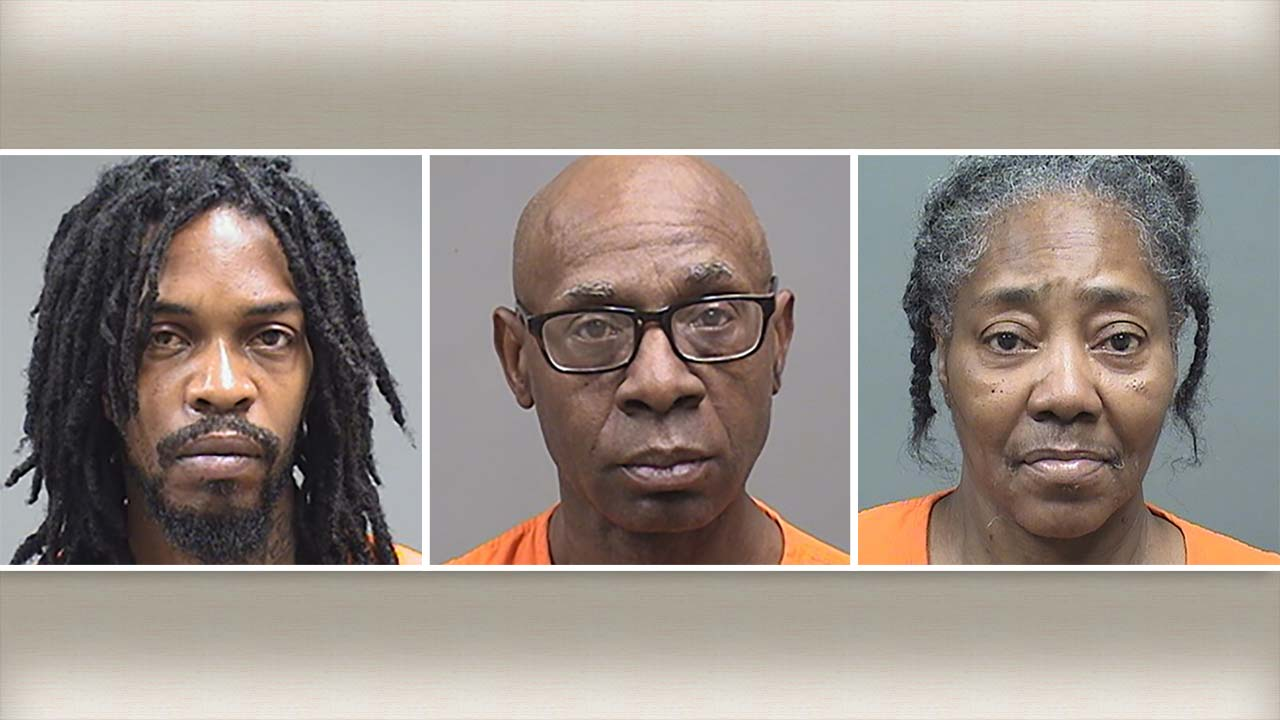James Edmonds, Roger Anderson and Jacqueline Mitchell, arrested during drug raids in Youngstown, Ohio