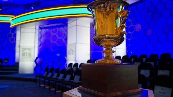 Scripps Spelling Bee trophy