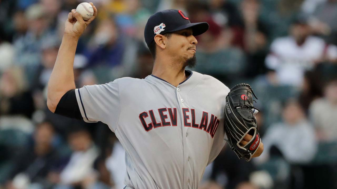 Cleveland Indians starting pitcher Carlos Carrasco 2
