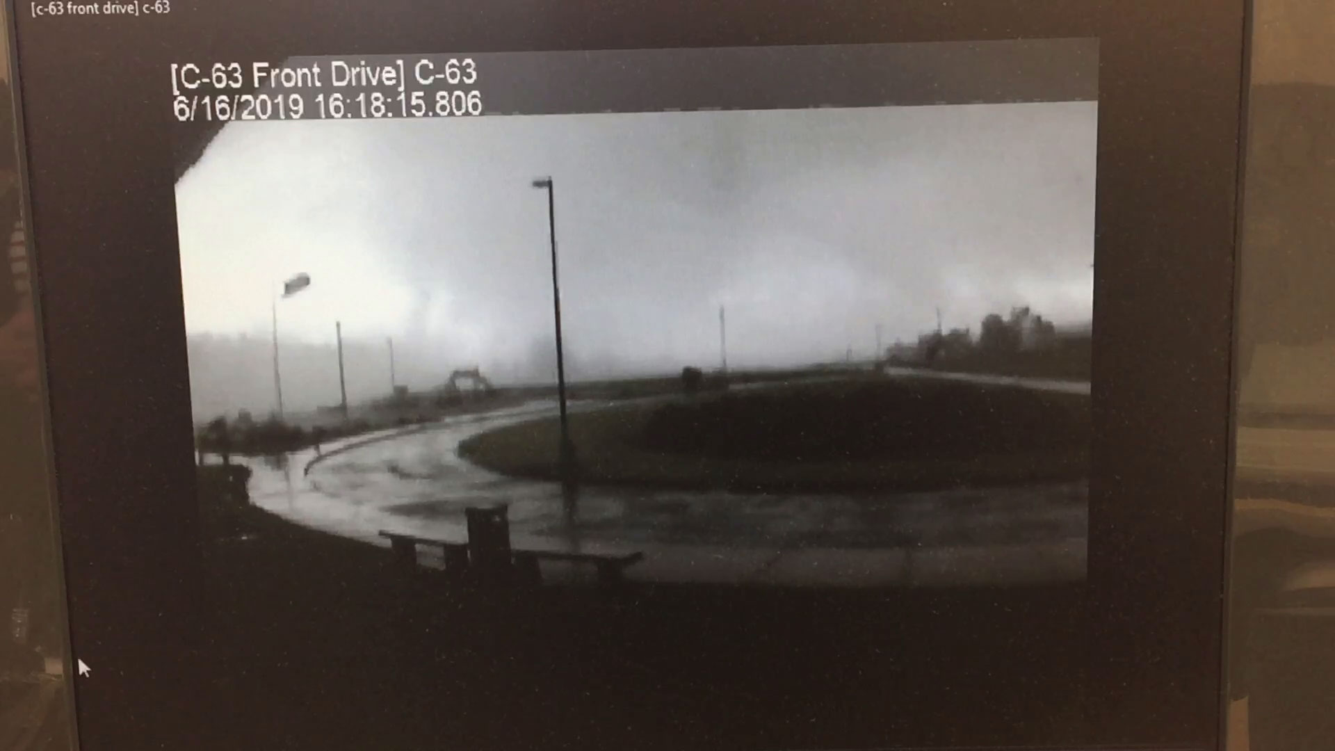 Surveillance video from Southington Local Schools captured video of a tornado as it moved through Trumbull County last Sunday.