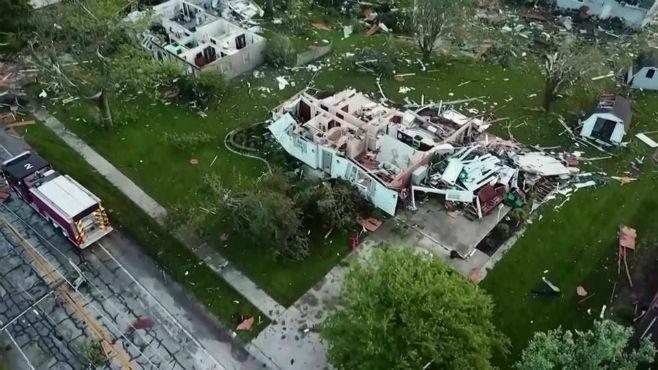 Ohio tornado drone image