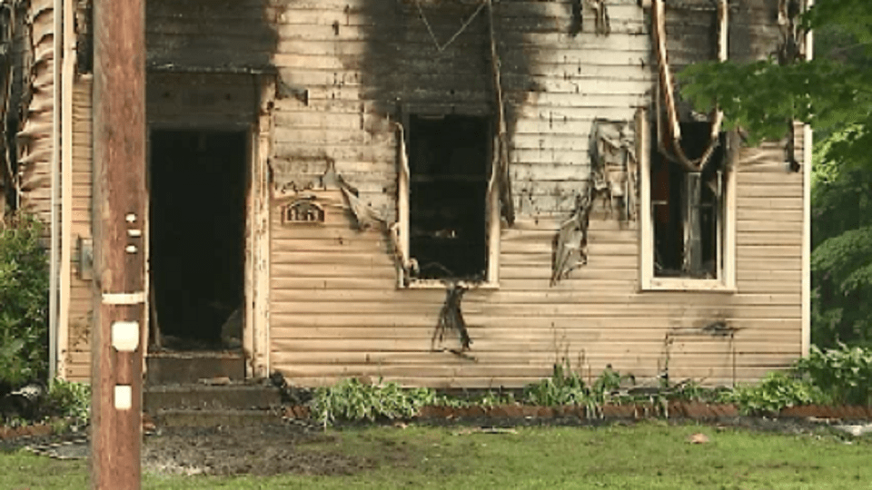 A house was destroyed by fire in Windham, Ohio.