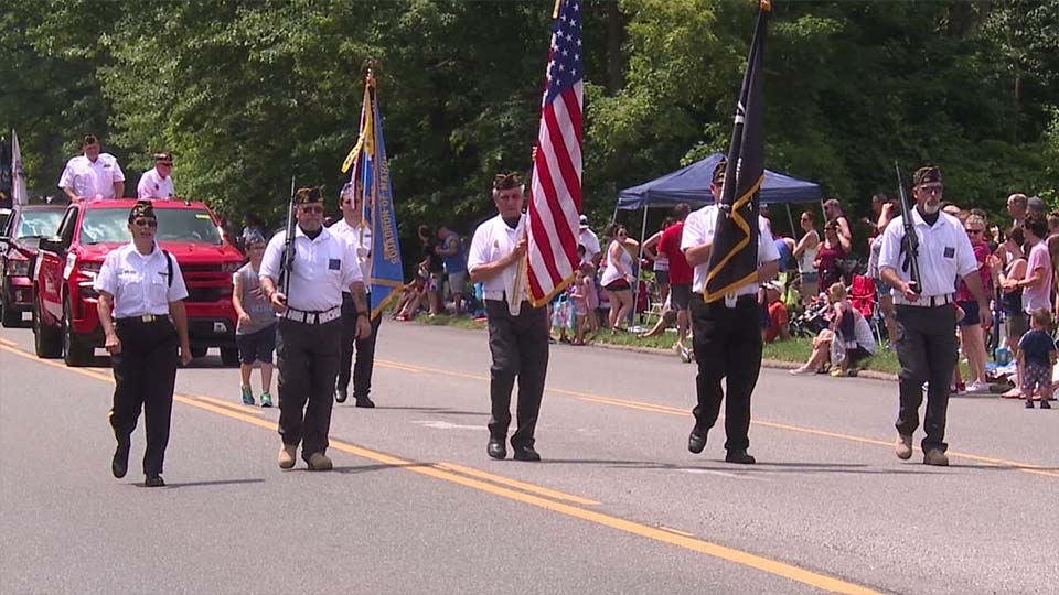 Photos of Austintown's Fourth of July parade .