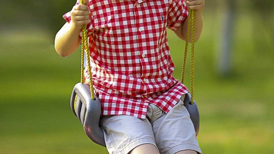 Boy, swing, playground