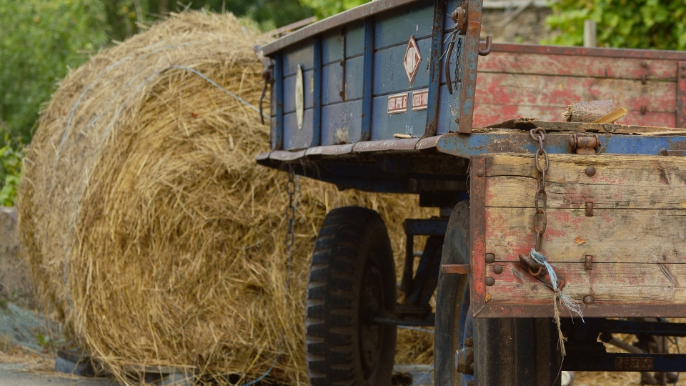 Ohio driver critical after slamming into rear of hay baler