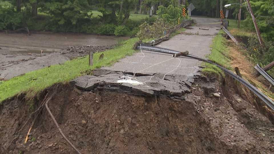 Storm damage in Kinsman