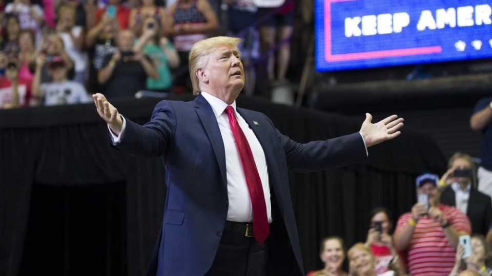 President Donald Trump campaign rally in Cincinnati, Ohio