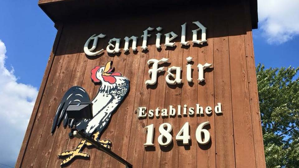 Canfield Fair Sign