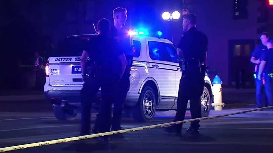Dayton police at scene of mass shooting