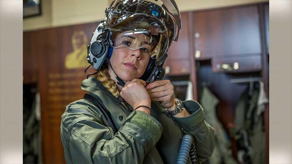 Capt. Anneliese Satz, first female Marines pilot