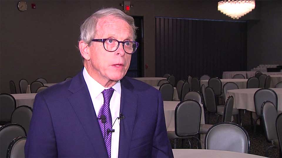 Ohio Governor Mike DeWine joined the Youngstown-Warren Regional Chamber at its annual Salute To Business Thursday.