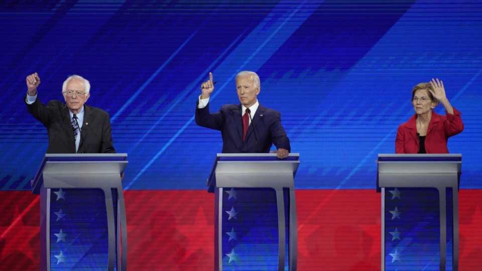 Sen. Bernie Sanders, former Vice President Joe Biden and Sen. Elizabeth Warren