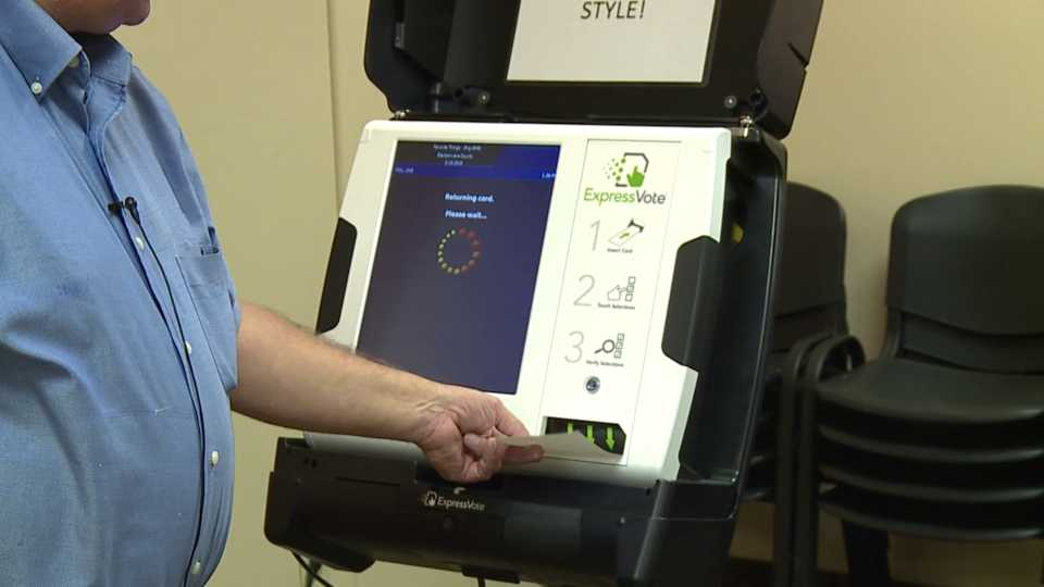 Mahoning County voting machines