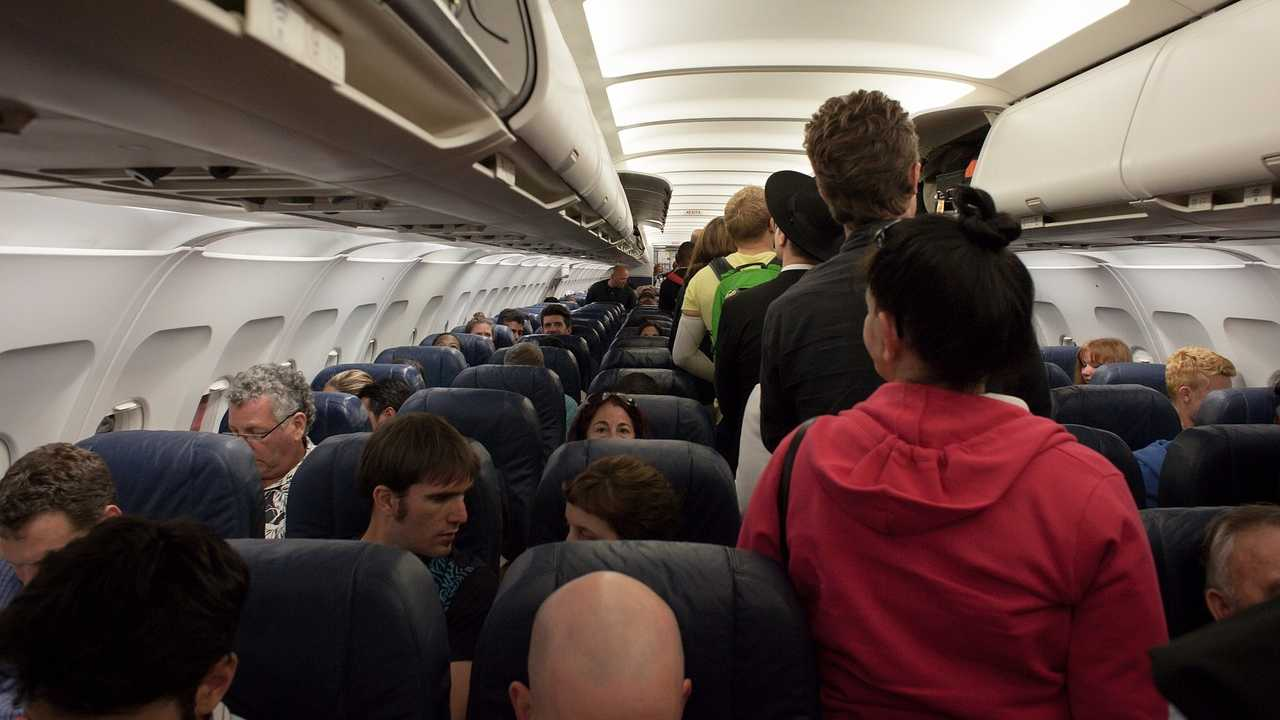 Airplane, plane, passengers, flight