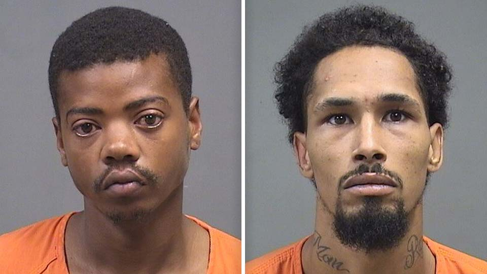 Antonio Mitchell and Christopher Gordon, charged with a stabbing and home invasion in Youngstown, Ohio.