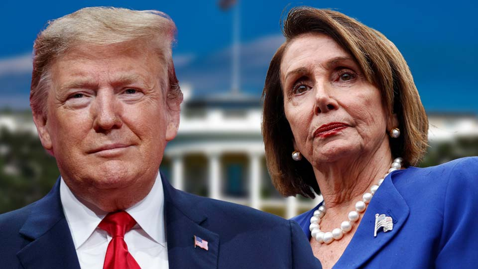 President Donald Trump and Nancy Pelosi