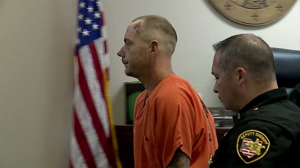Gregory Barnhart of Bristolville was in court Wednesday morning.