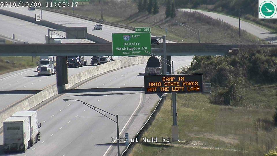 ODOT left lane signs