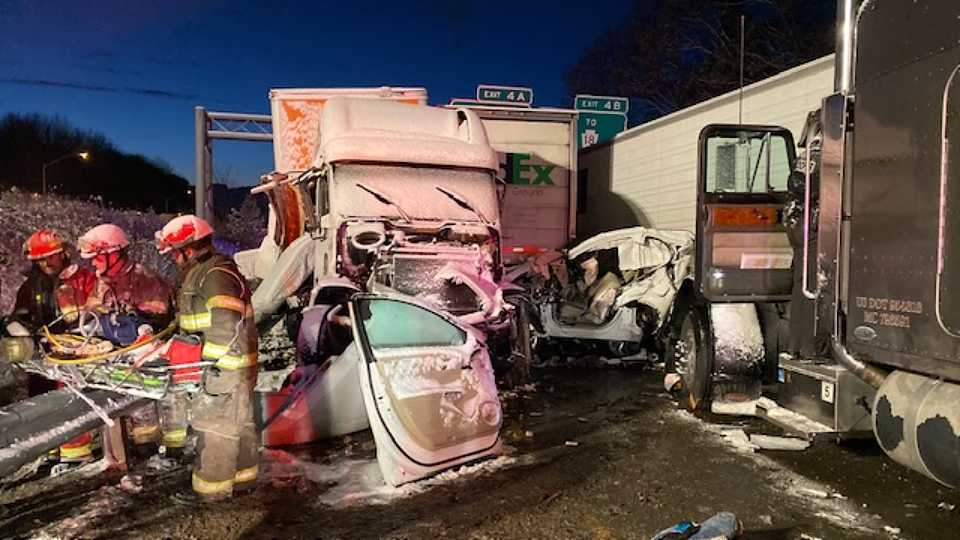 I-80 Mercer County 12-vehicle crash