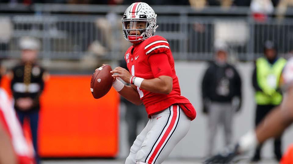 Ohio State quarterback Justin Fields.